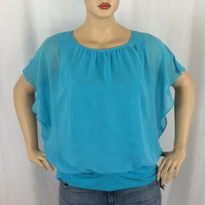 JM Collection Banded Bottom Blouse 204D
